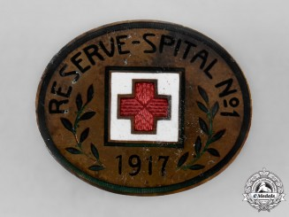 Germany, Imperial. A Red Cross Reserve Hospital Pin, 1917