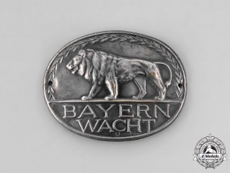 Bavaria, Kingdom. A Bayernwacht Badge, c.1930