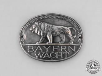 Bavaria, Kingdom. A Bayernwacht Badge, c.1930