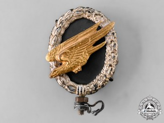 Germany, Luftwaffe. A Fallschirmjäger Badge Decorative Finial