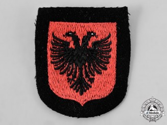 Germany, SS. A 21st Waffen Mountain Division of the SS Skanderbeg Sleeve Shield