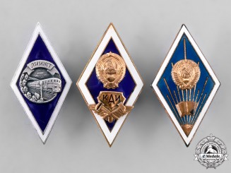 Russia, Soviet Union. A Lot of Graduation Badges