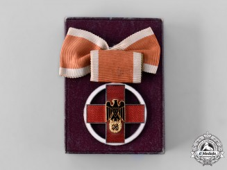 Germany, DRK. A German Red Cross Medal, with Case, by Gebrüder Godet & Co.