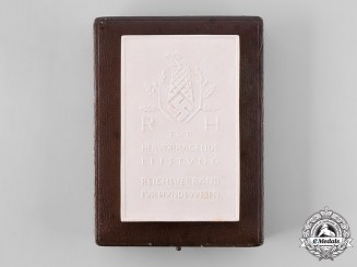 Germany, Third Reich. A Plaque for Merit in Dog Training, with Case