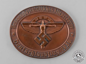 Germany, NSFK. A 1938 Nationalsozialistisches Fliegerkorps (NSFK) Air Rally Table Medal