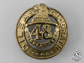 Canada, Dominion. A Pre-First War 48th Highlanders of Canada Glengarry Badge, 1904 Model