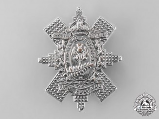 New Zealand, Commonwealth. A Scottish Regiment Glengarry Badge