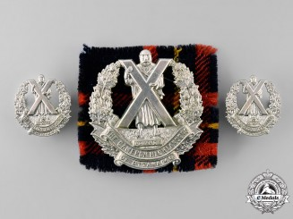 Canada, Commonwealth. A Cameron Highlanders of Canada (Machine Gun) Insignia Set