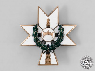 Croatia, Independent State. An Order of the Crown of King Zvonimir, II Class with Oak Leaves, c.1941