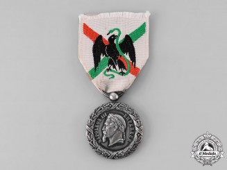 France, II Empire. A Medal of the Mexico Expedition with Original Ribbon, c.1863