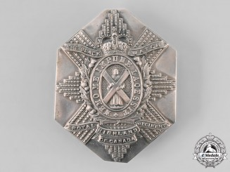 Canada, Commonwealth. QEII The Black Watch (Royal Highland Regiment) of Canada Cross Belt Plate