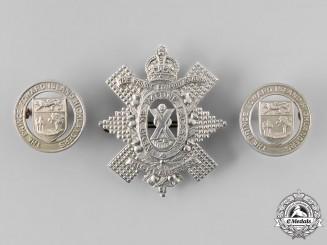 Canada, Commonwealth. A Prince Edward Island Highlanders Insignia Set, c.1940