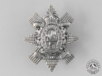 Canada, Dominion. A Pre-First War 5th Regiment Royal Highlanders of Canada Glengarry Badge, 1906 Model