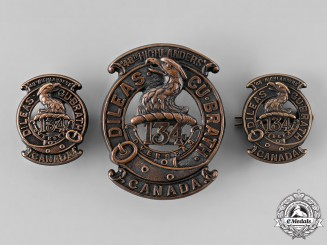 "Canada, CEF. A 134th Infantry Battalion ""48th Highlanders"" Insignia Set, by Ellis Bros, c.1916"