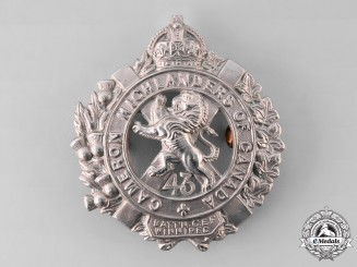 "Canada, CEF. A 43rd Infantry Battalion ""Cameron Highlanders"" Officer's Glengarry Badge, by Tiptaft"