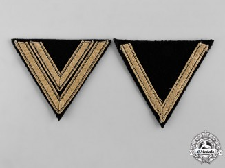 Germany, SS. Two Tropical Rank Chevrons