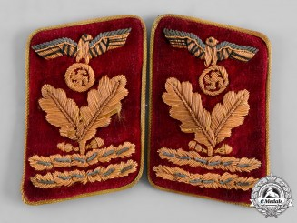 Germany, NSDAP. A Pair of Reichs Level Hauptbereichsleiter Collar Tabs