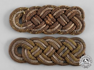 Germany, Wehrmacht. A Pair of Russian Braid Overlays for General Major Shoulder Boards
