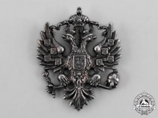 Russia, Imperial. An Army Officer's Cap Badge