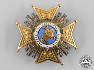 Spain, Fascist State. A Royal and Military Order of Saint Hermenegildo, Breast Star, c.1950