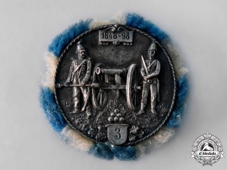 Germany, Weimar. A Bavarian Regimental 25th Anniversary Reunion Badge by Gustav Deschler