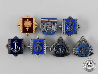 Yugoslavia, Socialist Federal Republic. A Lot of Military Academy Graduation Badges