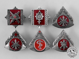 Yugoslavia, Socialist Federal Republic. A Lot of Military Academy Graduation Badges