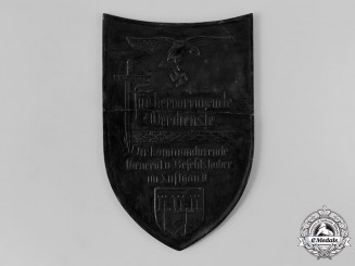 Germany, Luftwaffe. A Luftgau II Honour Plaque