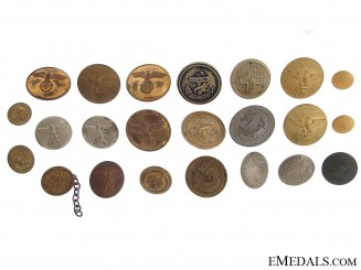Twenty-Three German Buttons