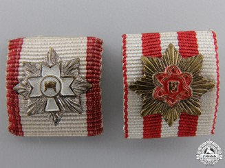 Two Croatian Ribbon Bar Miniatures