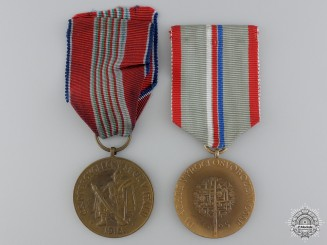 Two Czechoslovakian Medals