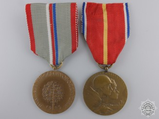 Czechoslovakia, Republic. Two Medals & Awards