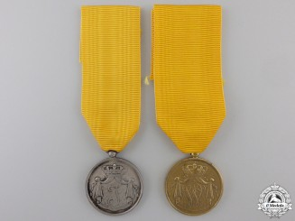 Two Dutch Army NCO Long Service Medals