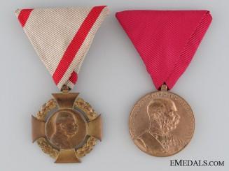 Two First War Period Austrian Medals