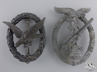 Two German Luftwaffe Badges
