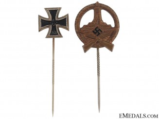 Two German Stickpins