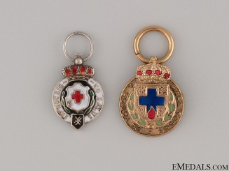 Two Miniature Red Cross Medals
