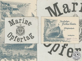 Two Pre First War German Navy League Marine Items