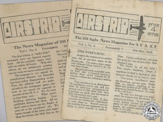 "Two RAF ""Airstrip"" News Magazines for 238 Squadron; SEAAF"