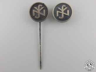 Two RZM Silver German Social Welfare Pins