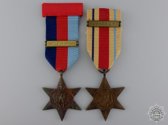 Two Second War British Campaign Stars with Bars