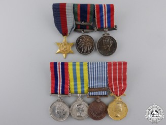 Two Second War Canadian Miniature Medal Bars