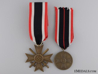 Two Second War German Merit Awards