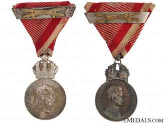 Two Silver Signum Laudis Medals – WWI Period
