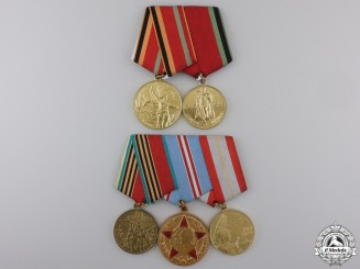 Two Soviet Russian Medal Bars