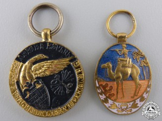Two Spanish Miniature Medals and Awards