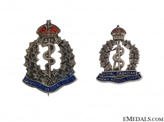 Two WWI  Royal Canadian Medical Corps Pins