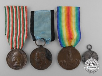 Four Italian Medals & Awards