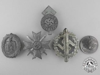 Five Second War German Badges and Awards