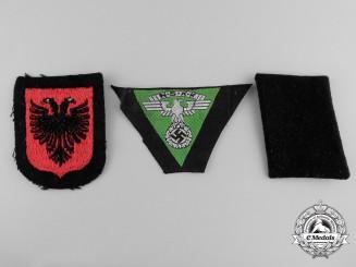 Three Second War Period German Cloth Insignia